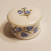 Vintage Crown Staffordshire Bluebell Porcelain Trinket box. Made in Engl... - $18.00