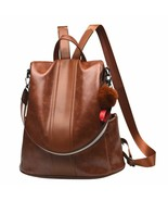 Women Backpack Purse PU Leather Anti-theft Backpack Casual Satchel Shoul... - $51.41+