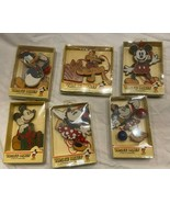 3 VNTG Disney MICKEY Kurt S Adler Wood Christmas Ornament **BRAND NEW IN... - $59.99