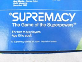 Vintage 1986 Supremacy Game of the Superpowers Global Domination Complete image 3