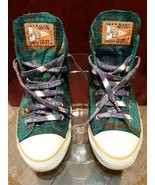 Women's Miami Dolphins Style Plaid Converse Sneakers, Size 4 US - $30.00