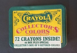 Vintage Sealed Crayola Collectors Colors Limited Edition, Tin with Crayons, 1991 - $19.79