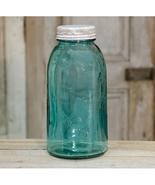 3/SET ANTIQUE BLUE W/ METAL LID STAR MASON JAR FARMHOUSE COUNTRY KITCHEN - $39.59