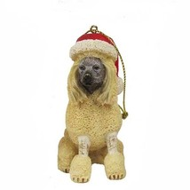 Poodle w/Santa Hat Ornament - $12.95
