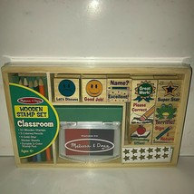 Melissa & Doug Wooden Classroom Stamp Set New and Sealed Gold Stars ! - $19.75