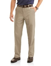 George Men's Wrinkle Resistant Flat Front 100% Cotton Twill Dress Pant 38x30