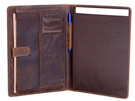 KomalC Genuine Leather Business Portfolio, Personal Organizer, Luxury Le... - $83.06