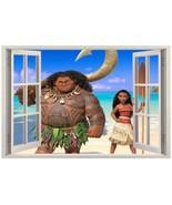 Moana 3D Window Decal Wall Sticker Home Decor Art Mural Disney Princess - $6.99 - $19.99
