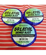 3 Ginger Lily BREATHE SHOWER BLAST Congested Bomb Aromatherapy Essential... - $12.86