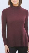 Jones New York Women's Long Sleeve Scrunched Neck Top Color: Port Size: ... - $15.72