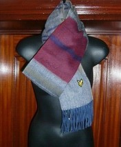 Lyles & Scott Vintage Men's Scarf, Horizontal Stripe, 100% lambswool, BNWT - $23.67