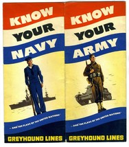 Greyhound Lines Know Your Army & Navy Ranks & Flags of the United Nation... - $39.56