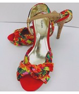 Style&co Women's Owenn Platform Pumps Citrus Orange Multi Size 8.5 M - $49.49