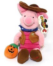 "DISNEY  Mini Bean Bag  Cowboy Piglet 8"" Mouseketoys Plush Pig 2000 NWT - $12.46"