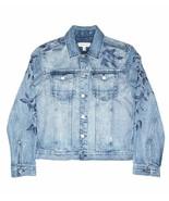 $128 Calvin Klein - Embroidered Leaves Trucker, Light Indigo, Size XL - $98.99