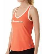 Champion Womens Heritage V-Neck Ringer Tank Groovy Papaya Coral Size XS NWT - $14.84