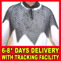 Chain mail Aventail, Chainmail Aventail, Butted Chainmail Aventail Blackened - $37.71