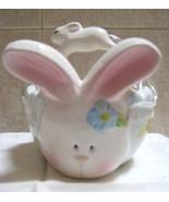 Unique Ceramic Easter Bunny Basket - NEW - $4.99