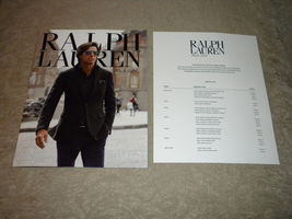 Nacho Figueras Ralph Lauren Black Label Fashion Catalog w pricing 8 pgs ... - $5.75