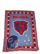 """Vintage Chicago Bears Throw Blankets 56"""" x 42"""" The Northwest Company - $28.50"""