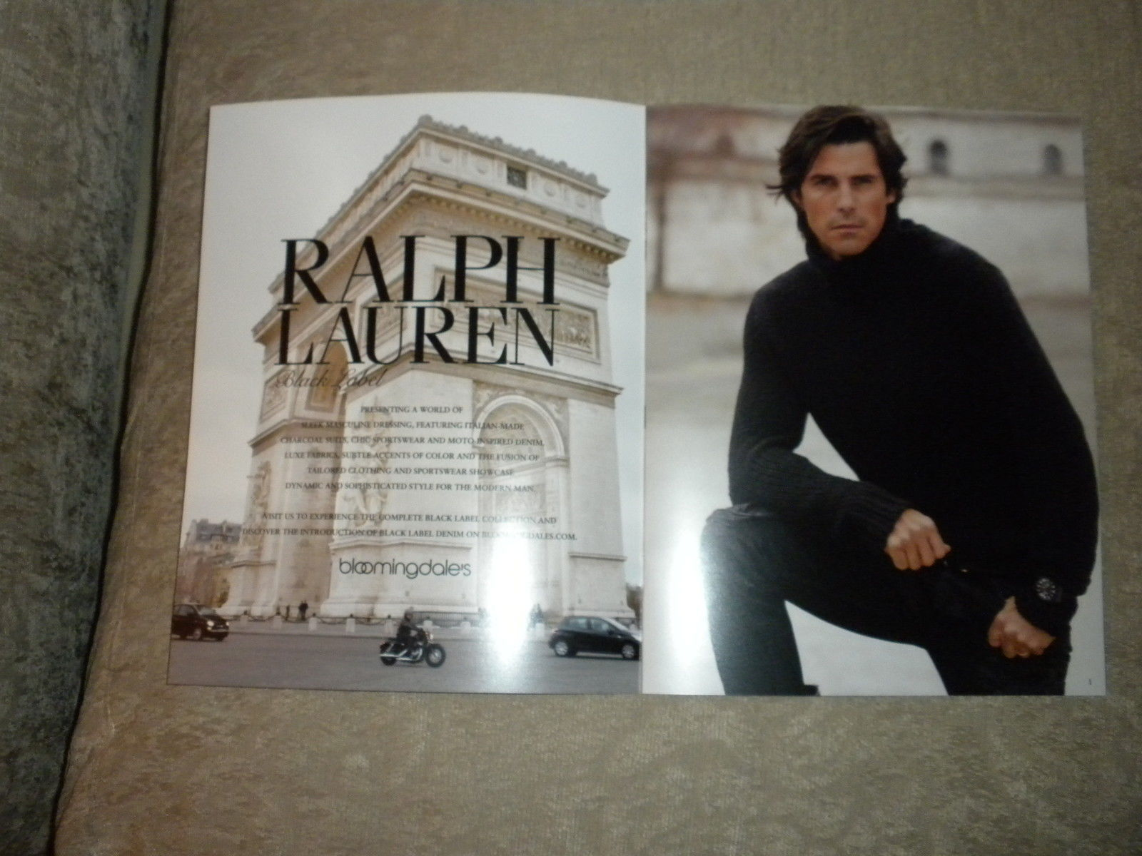Nacho Figueras Ralph Lauren Black Label Fashion Catalog w pricing 8 pgs 2013  NF