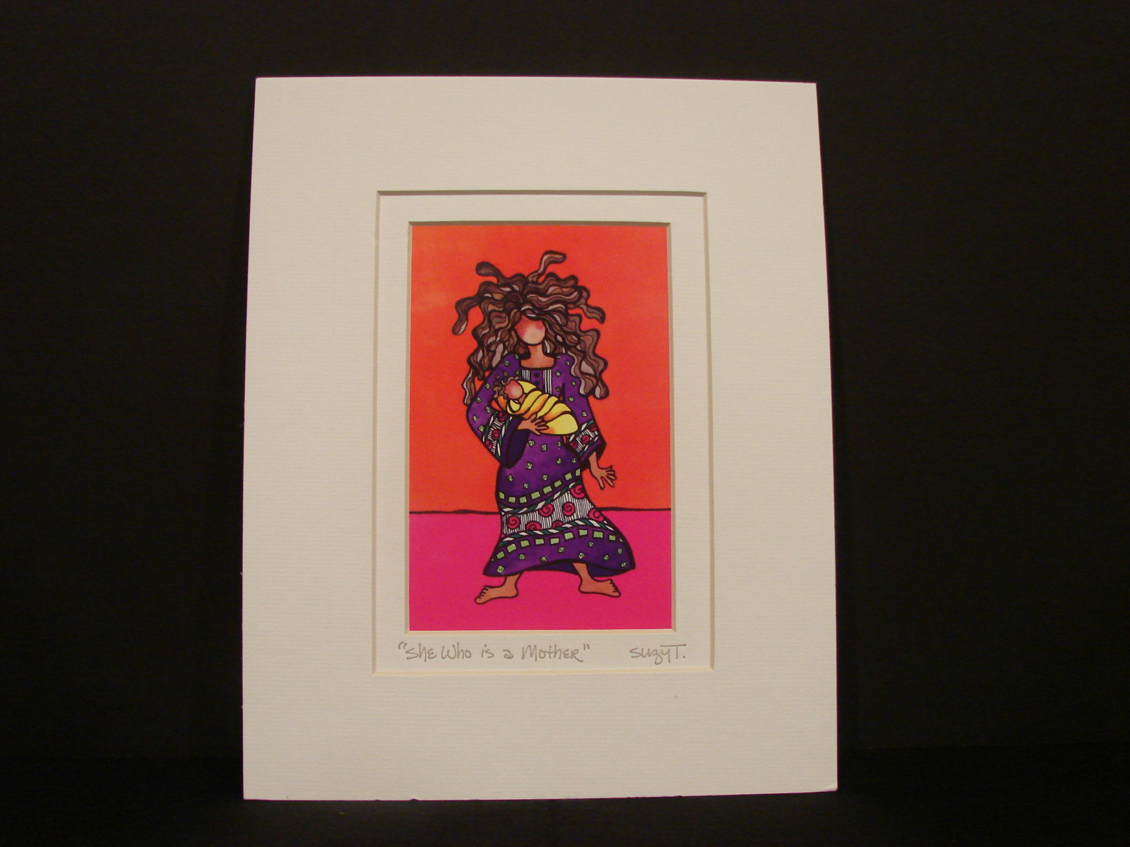 "Suzy Toronto ""She Who is a Mother""  Matted Print, New in Factory Sealed Wrap."