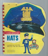 HATS Board Book;A Sturdi-Contour Book;Toddler/Baby;Red Plastic Spiral;19... - $19.97