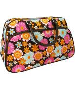 Flower Duffle Bowler Bag Brown - $9.99