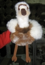 Cosy figure bird, soft toy is made with alpaca fur - $62.00