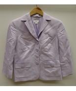 Ann Taylor Loft Coat Linen Female Adult 6 Laven... - $48.44