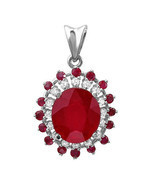 8.31 ct natural ruby & diamond pendant in 14k gold - $1,849.00