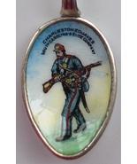 CIVIL WAR Charleston Zouaves South Carolina Elite Silver pl Enamel Spoon... - $162.60