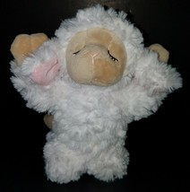 "GANZ Inspirational Lamb 9"" Plush Sheep Stuffed Animal Toy Praying White ... - $14.80"