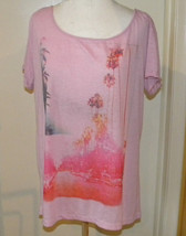 American Eagle Outfitters Feather Light Top Tee sz L PINK short sleeve - $12.99
