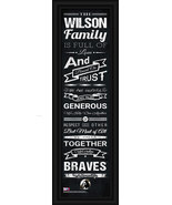 "Personalized North Carolina at Pembroke ""Braves"" 24x8 Family Cheer Frame... - $39.95"