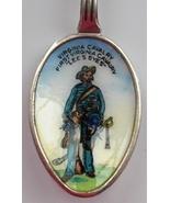 CIVIL WAR First VIRGINIA Cavalry Lee's Eyes Silver pl Painted Enamel Spo... - $162.60