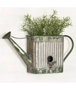 Metal Watering Can Planter Outdoor Flowers Herbs Wall Patio Rustic Vintage Decor - $53.20