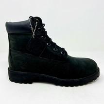 Timberland 6 Inch Premium Waterproof Triple Black Junior Youth Boots 12907 - $69.95
