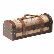 Travel Bottle Carrier, 1 Bottle Old World Map Rustic Vintage Tote Bottle... - $36.89
