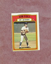 1972 Topps high # 708 Tim Foli In Action New York Mets Nice vg-ex to ex - $4.99