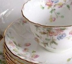 Adderley Floral Pattern 6824 Cup and Saucer - $40.47