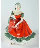 Royal Doulton small figurine - HN3248 - Ninette - red and green dress - ... - $212.21