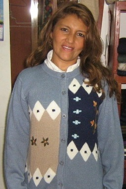 Light blue Cardigan, Jacket made of pure Babyalpaca wool