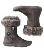 Hanna Andersson Baby Girl's Brigitta Gray Faux Fur Boots Shoes 8 Medium ... - $29.69