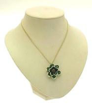 Ladies fashion necklace - green floral drop pendant - 13355 - $339,61 MXN