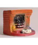 Pre c1960 Eastgate pottery puppy lying at the fireplace E936 - $62.61