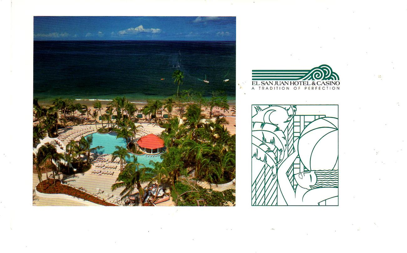 Post Cards (1990's)-(2)  Two Cards of the - El San Juan Hotel & Casino