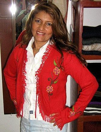 Red cardigan,jacket made of pure Babyalpaca wool