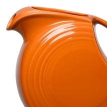 Fiesta Tangerine 28 Oz. Small Disc Pitcher  - $67.49
