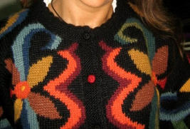 Colorful Cardigan,Jumper made with Baby Alpacawool - $165.00